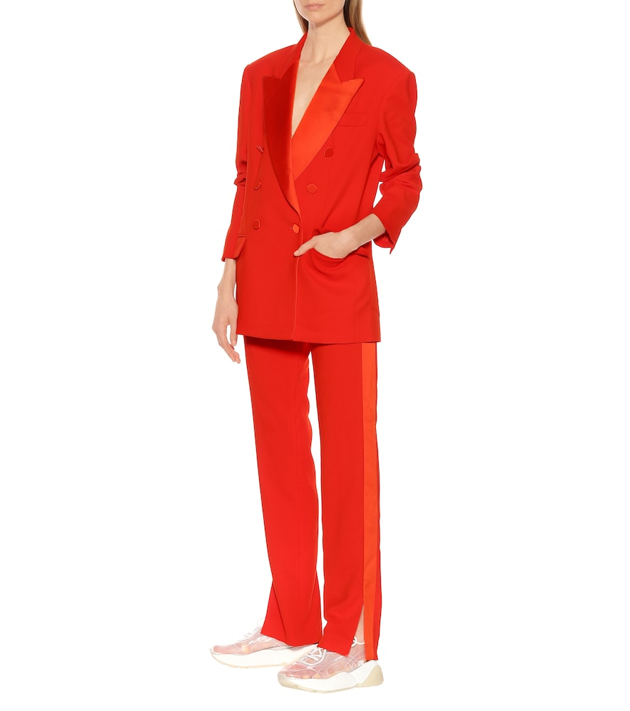 Double-breasted crêpe blazer by MSGM