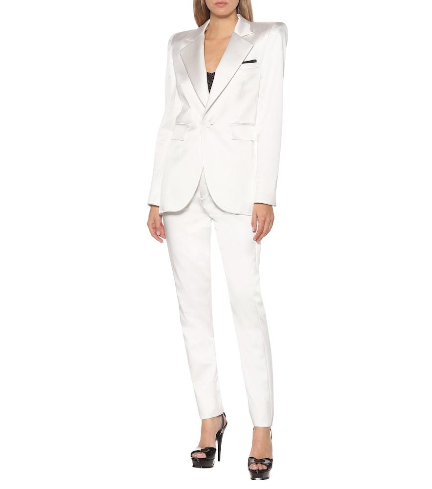 Silk-blend satin blazer by Saint Laurent
