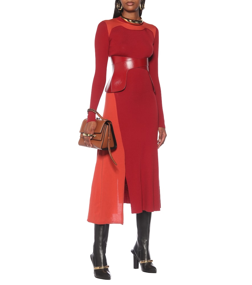 Wool and cashmere midi dress by Alexander McQueen