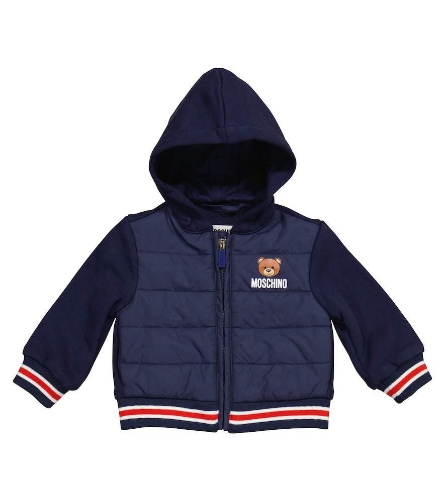 Moschino BABY HOODED COTTON JACKET