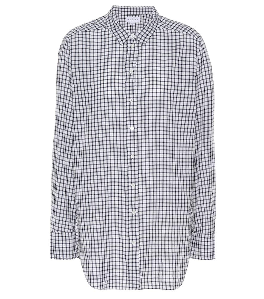 Chemise en coton à carreaux Rufina
