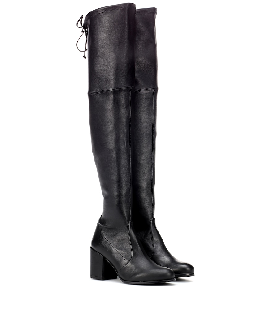 TIELAND LEATHER OVER-THE-KNEE BOOTS