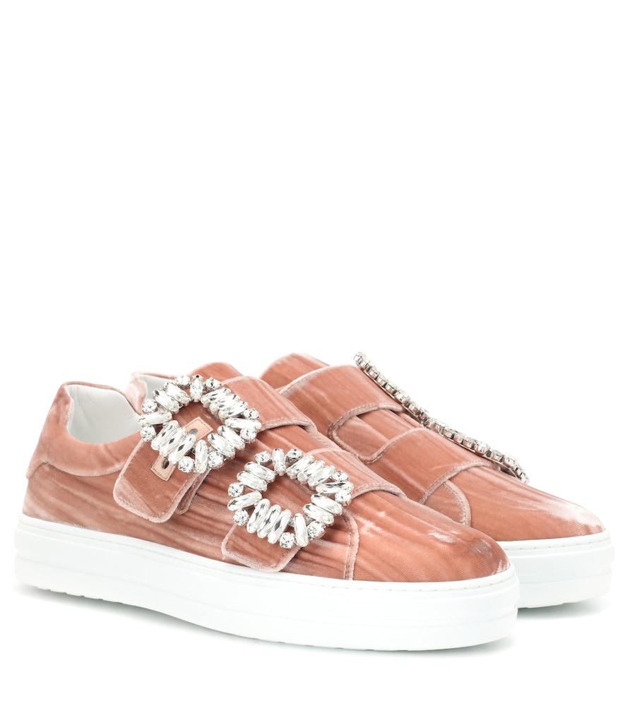 Sneaky Viv Double Buckle Sneakers in Pink