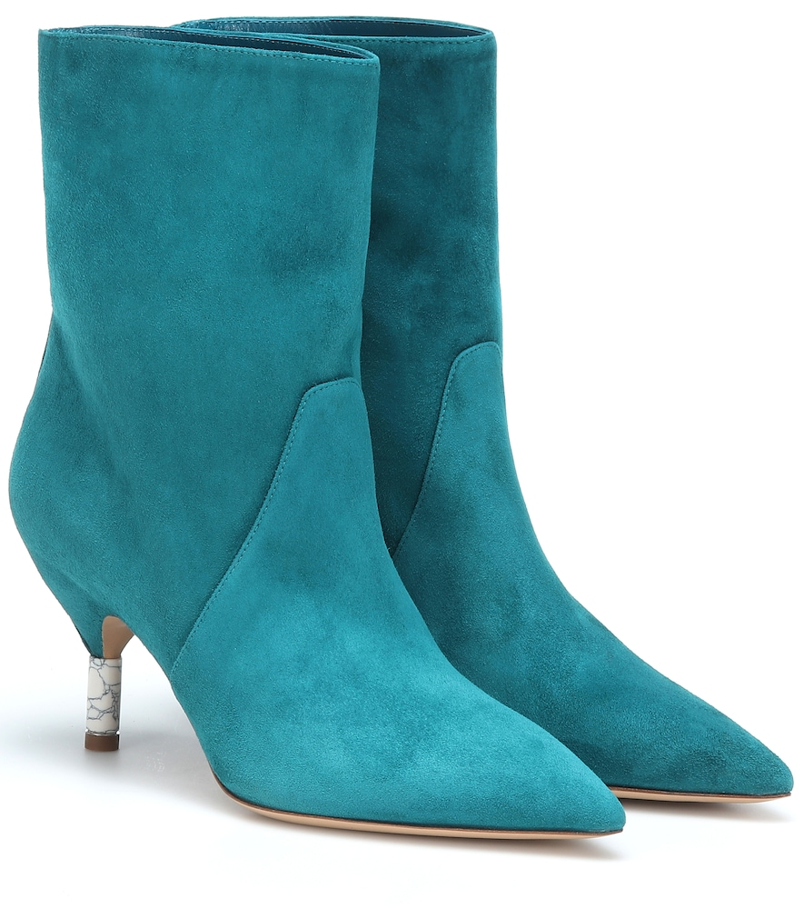 Mariana Suede Ankle Boots in Blue