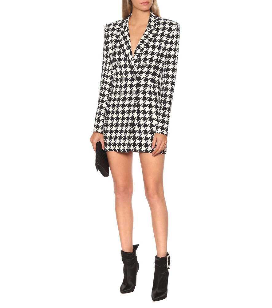Houndstooth blazer minidress by Balmain