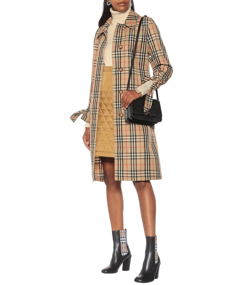 Vintage Check leather ankle boots by Burberry