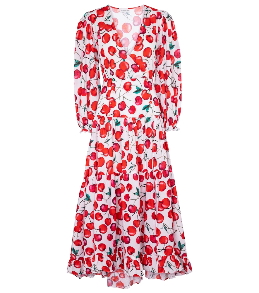 Alexandra Miro Exclusive To Mytheresa - Maria Printed Cotton Maxi Dress In Red
