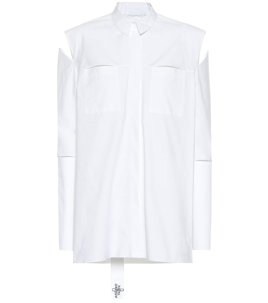 ABSENCE OF PAPER Kill Bill Cotton Shirt in White