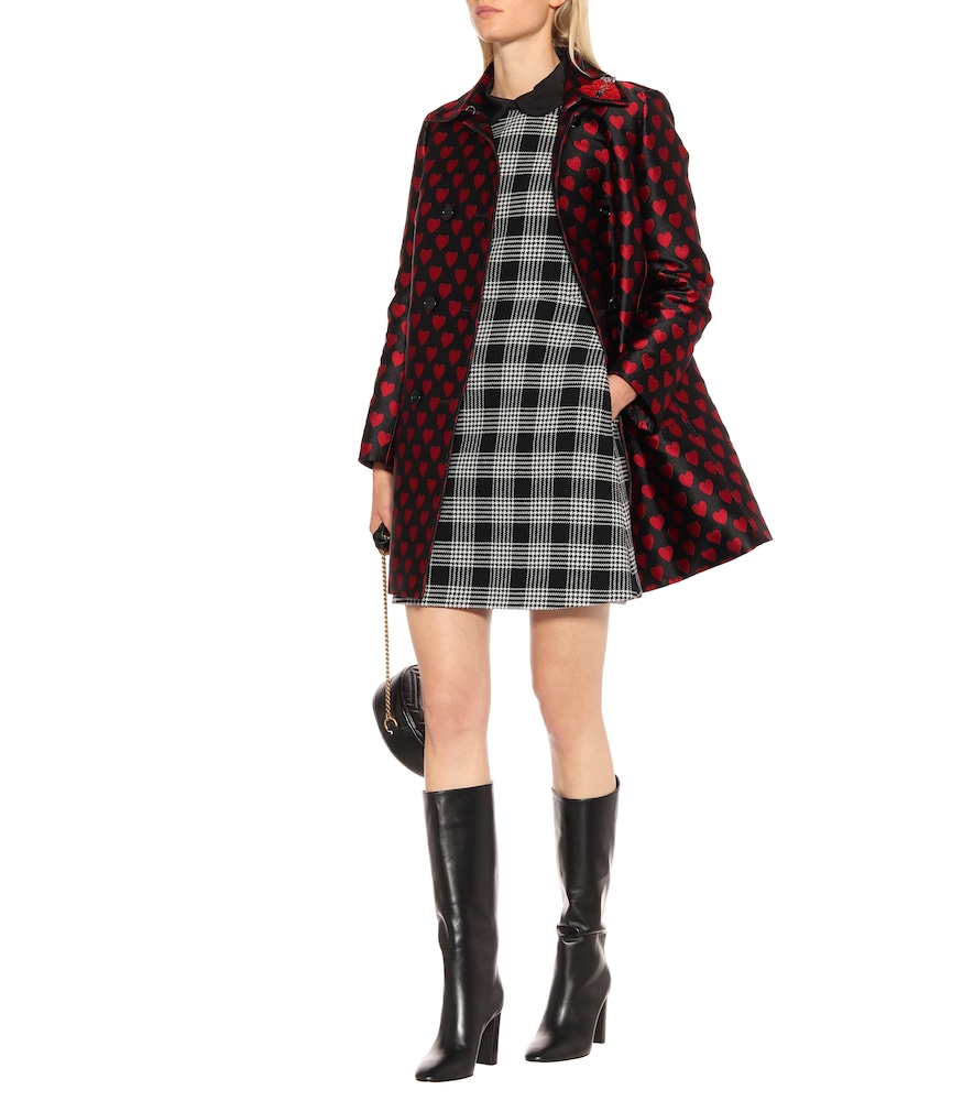 Double-breasted jacquard coat by REDValentino