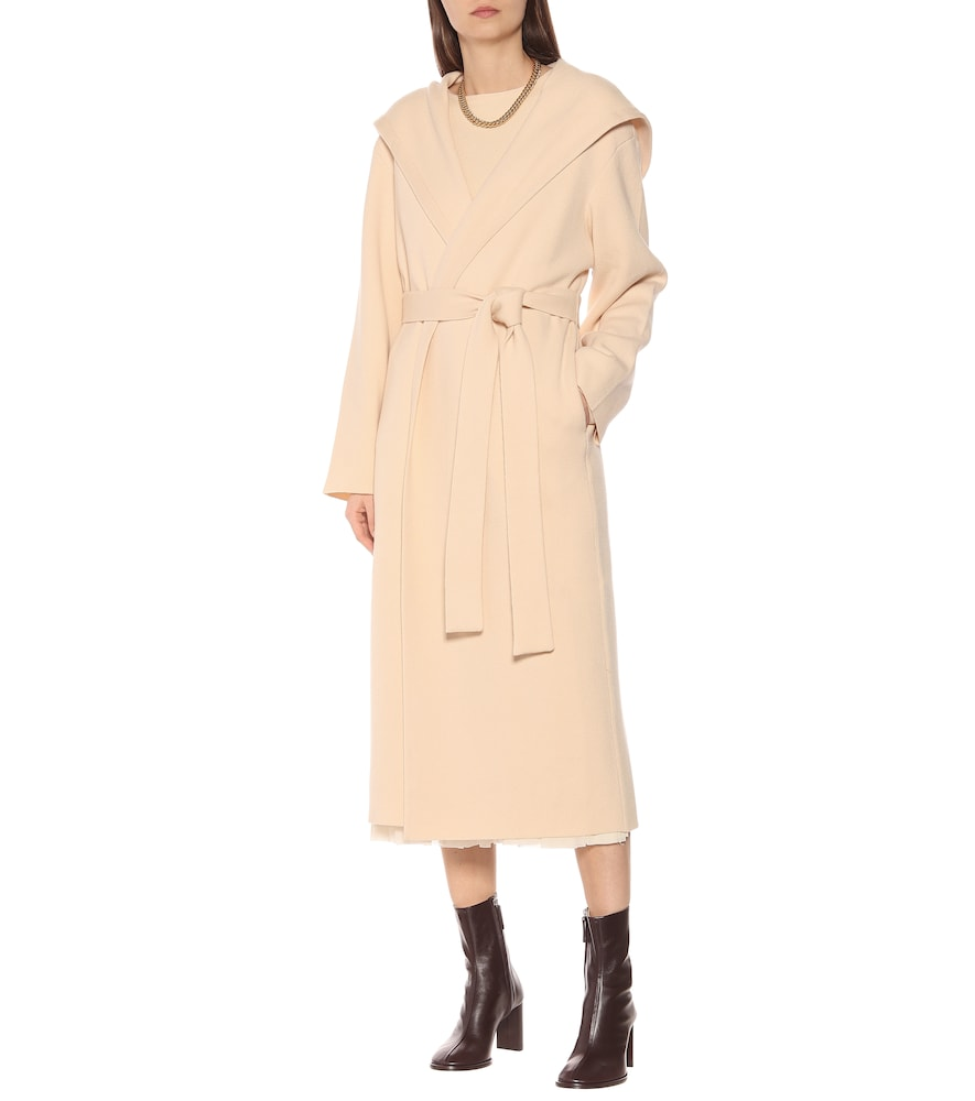 Eliona felted wool-blend coat by The Row