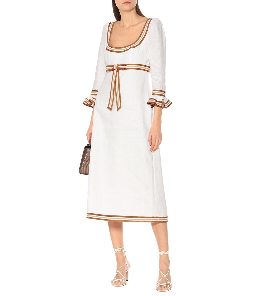 Super Eight linen midi dress by Zimmermann