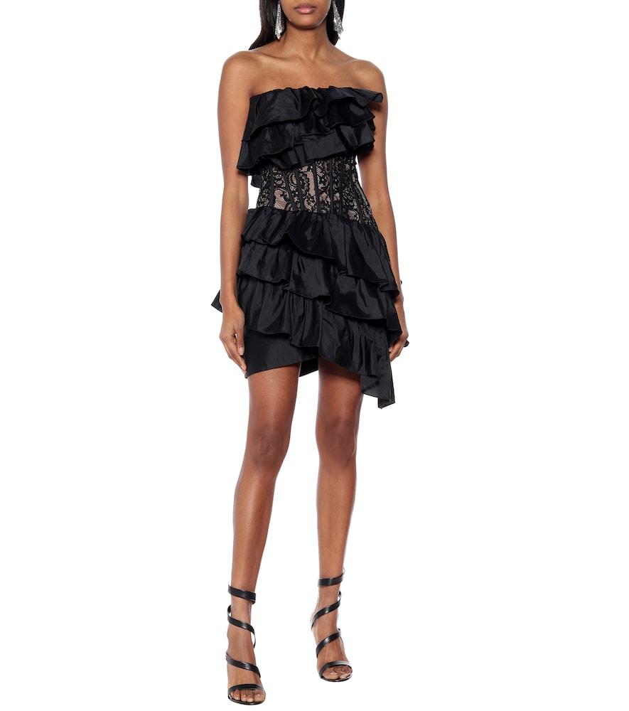 Silk-blend lace minidress by RASARIO