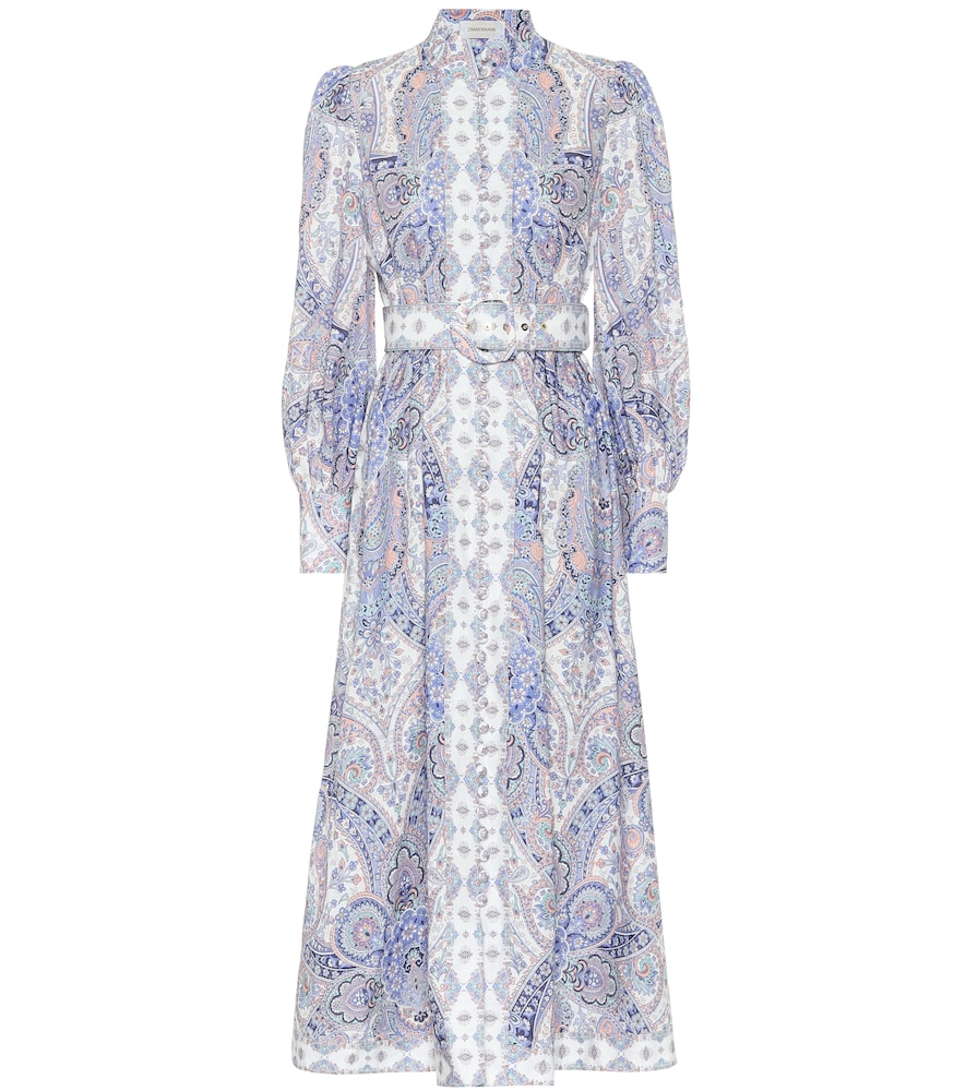 Exclusive to Mytheresa - Paisley linen midi dress