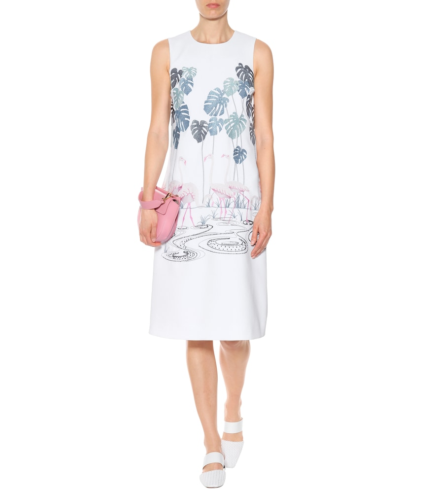 Embroidered crêpe dress by Victoria Victoria Beckham
