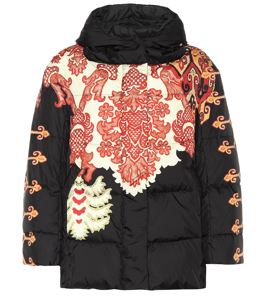 Printed down puffer coat by Etro