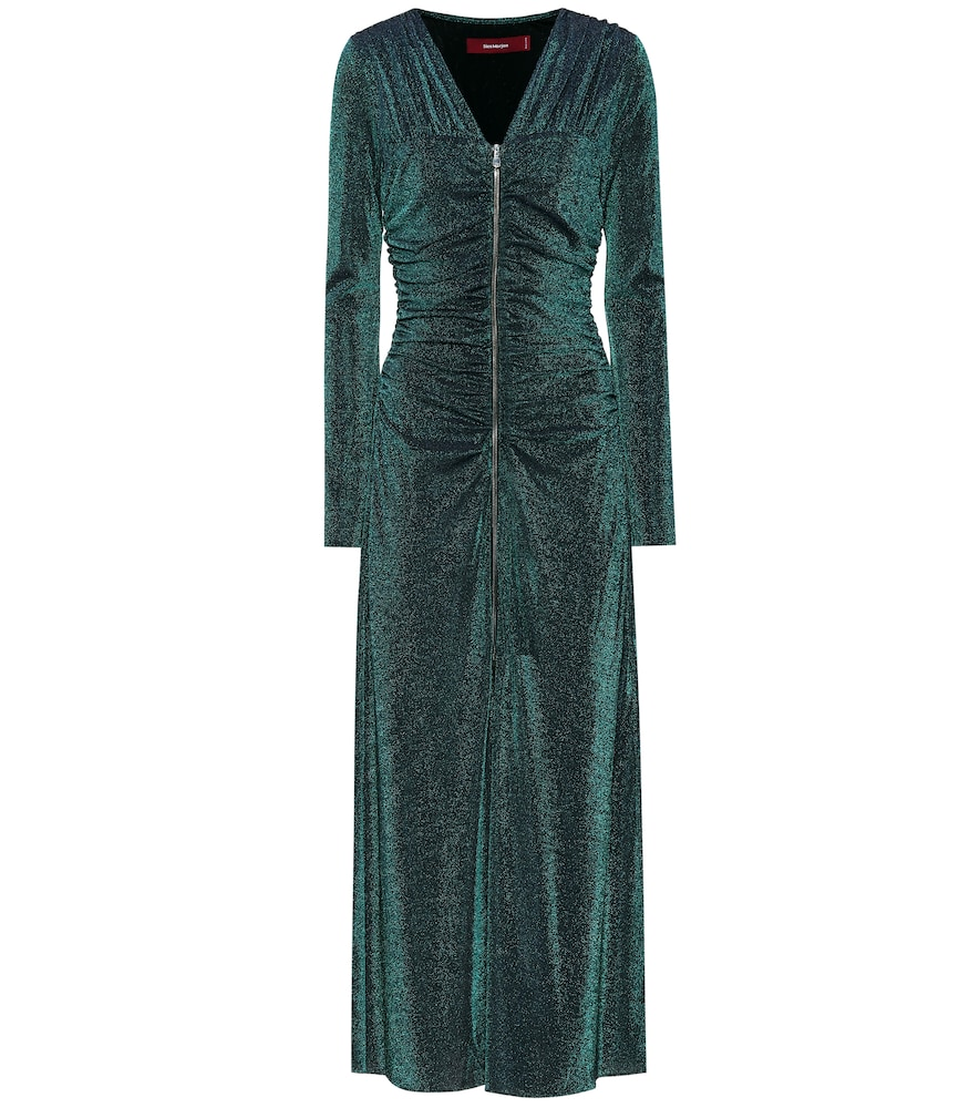 Jade metallic midi dress