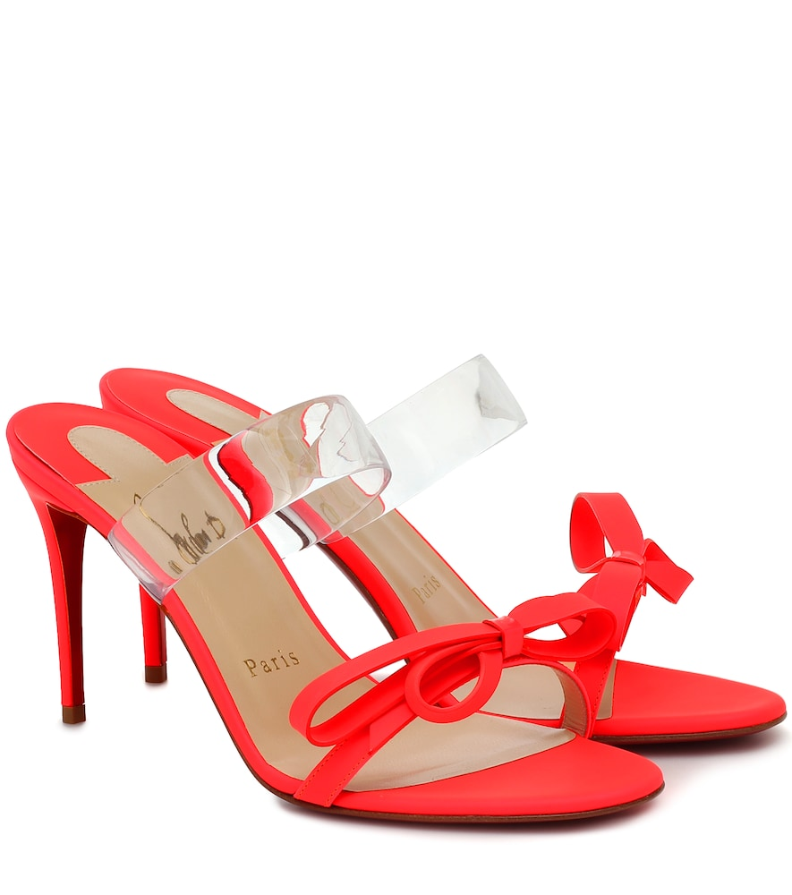Just Nodo 85 leather and PVC sandals