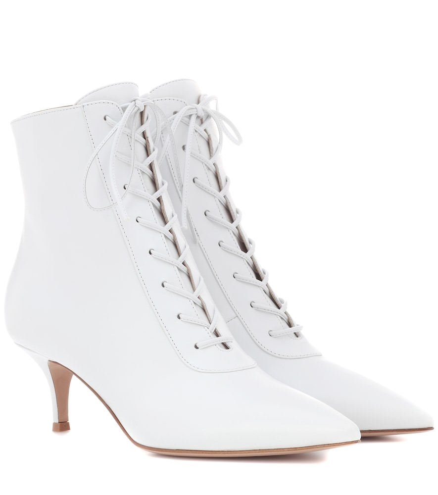 GIANVITO ROSSI GILLIAN 55 LEATHER ANKLE BOOTS