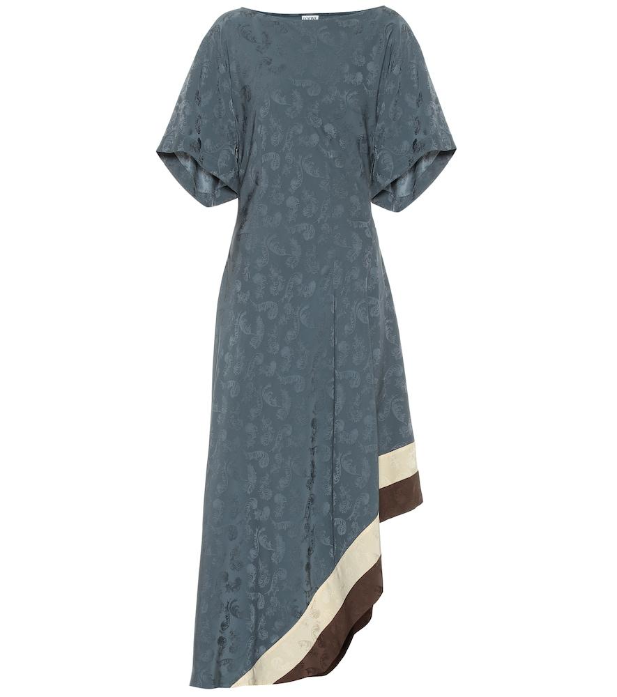 Robe asymétrique en jacquard - Loewe - Modalova