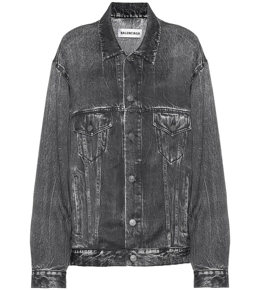 Trompe L'Oeil printed satin jacket by Balenciaga