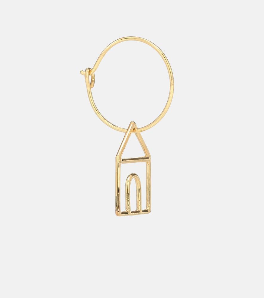 Casita 9kt gold single hoop earring