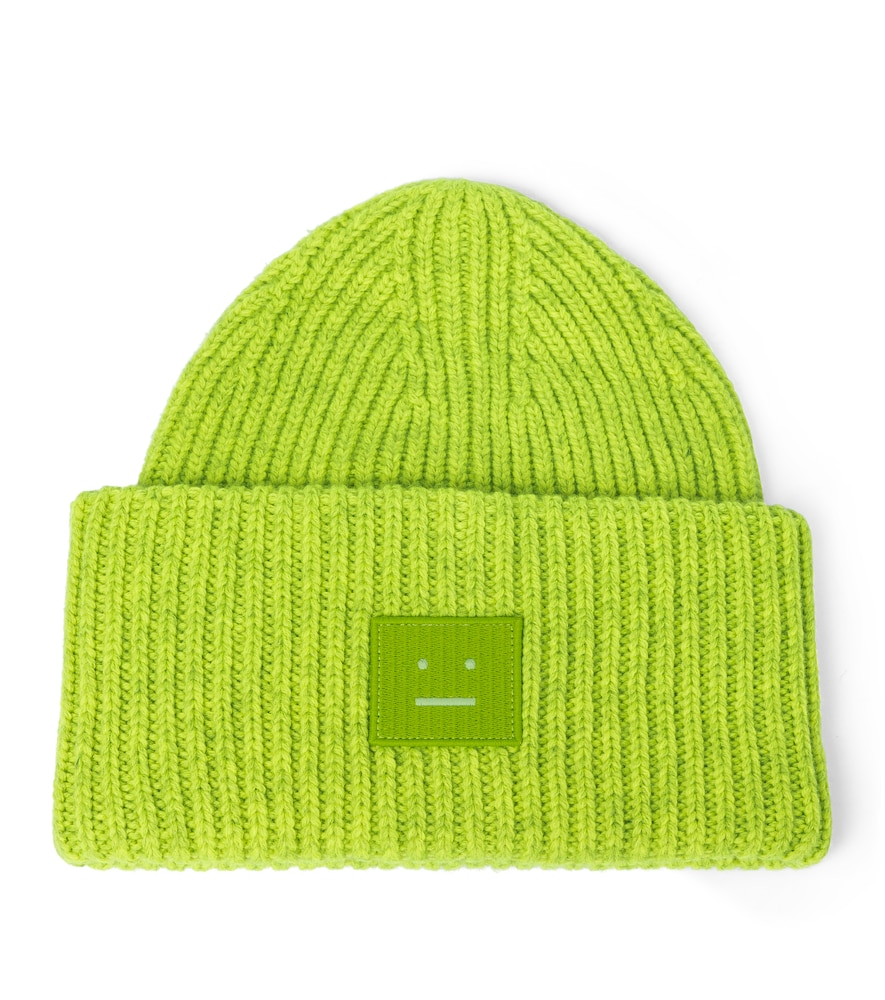 Acne Studios Beanies RIBBED-KNIT WOOL BEANIE
