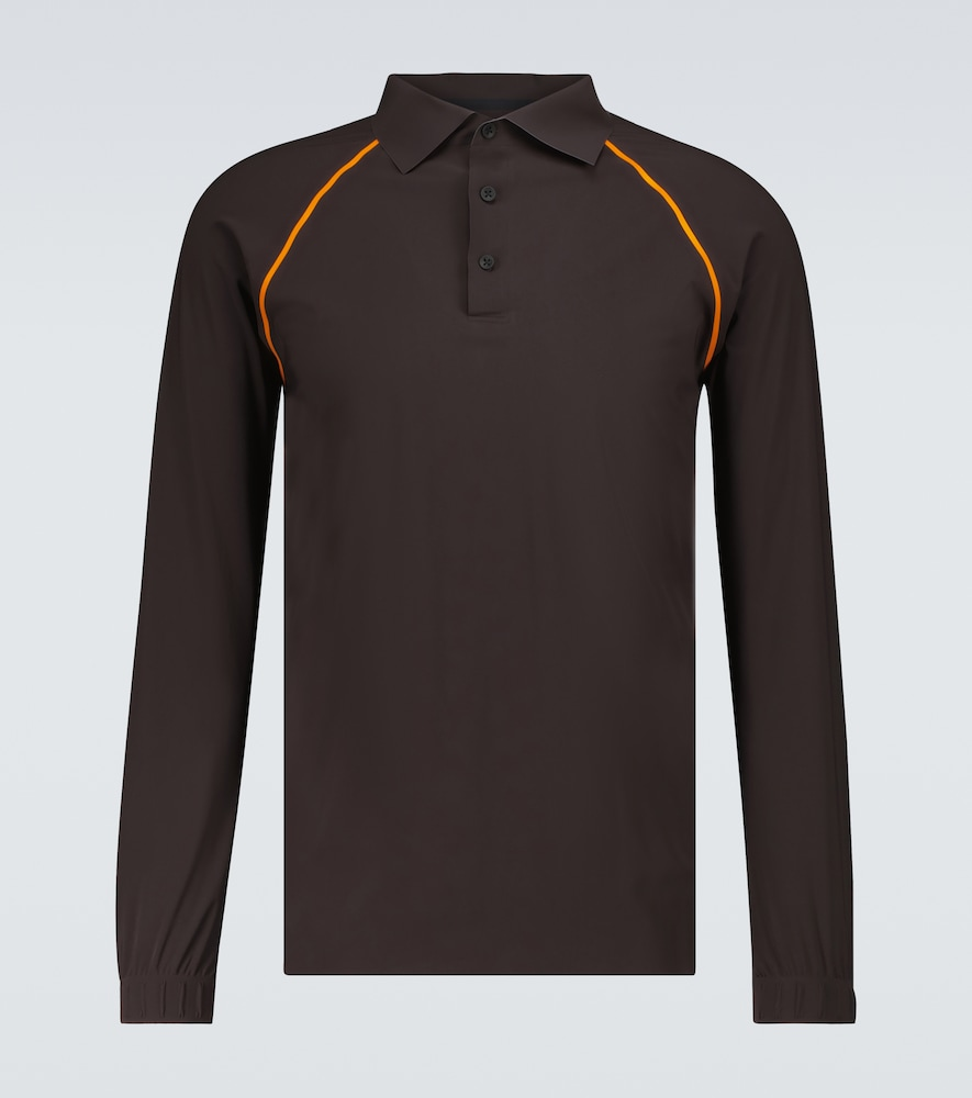 Taped Ultrasound long-sleeved polo