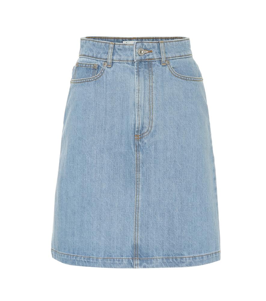 Jupe en jean à taille haute