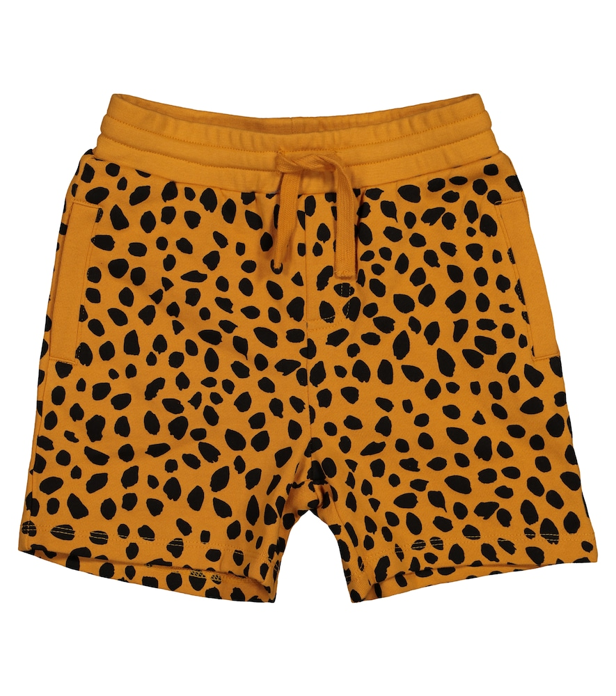 Stella Mccartney Shorts CHEETAH-PRINT COTTON SHORTS