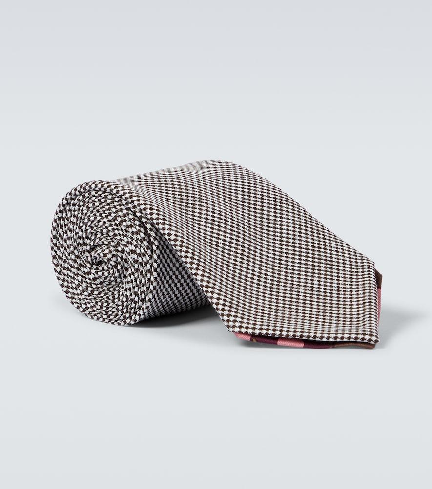 Manarola wool and linen tie