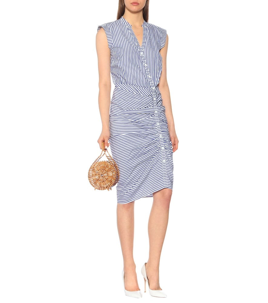Ruched cotton dress by Veronica Beard