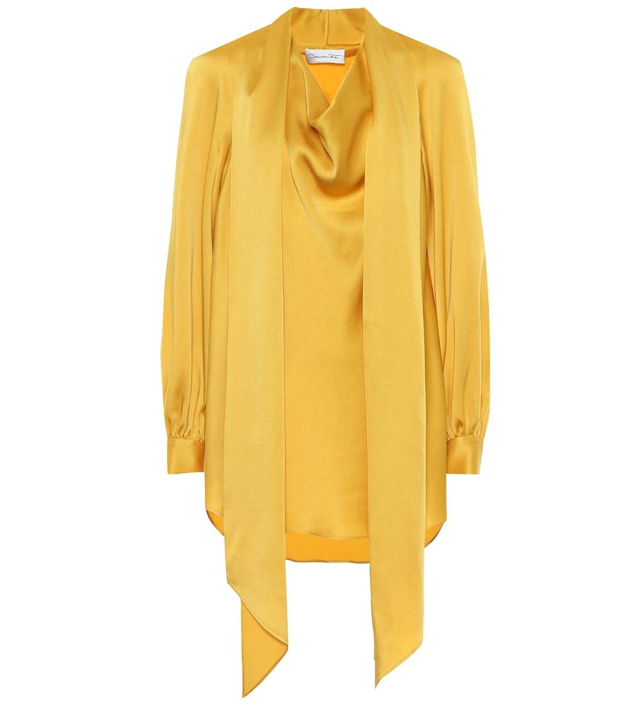 Oscar de la Renta Satin blouse