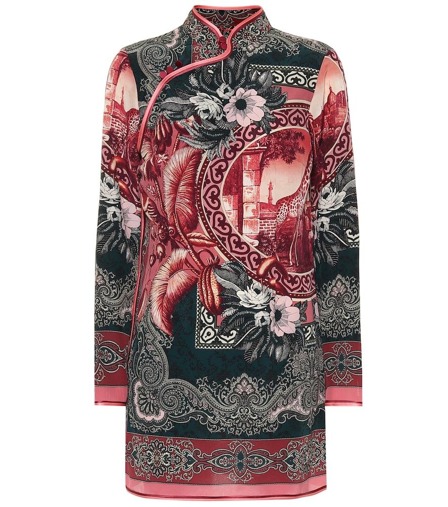 Robe Aura imprimée en soie