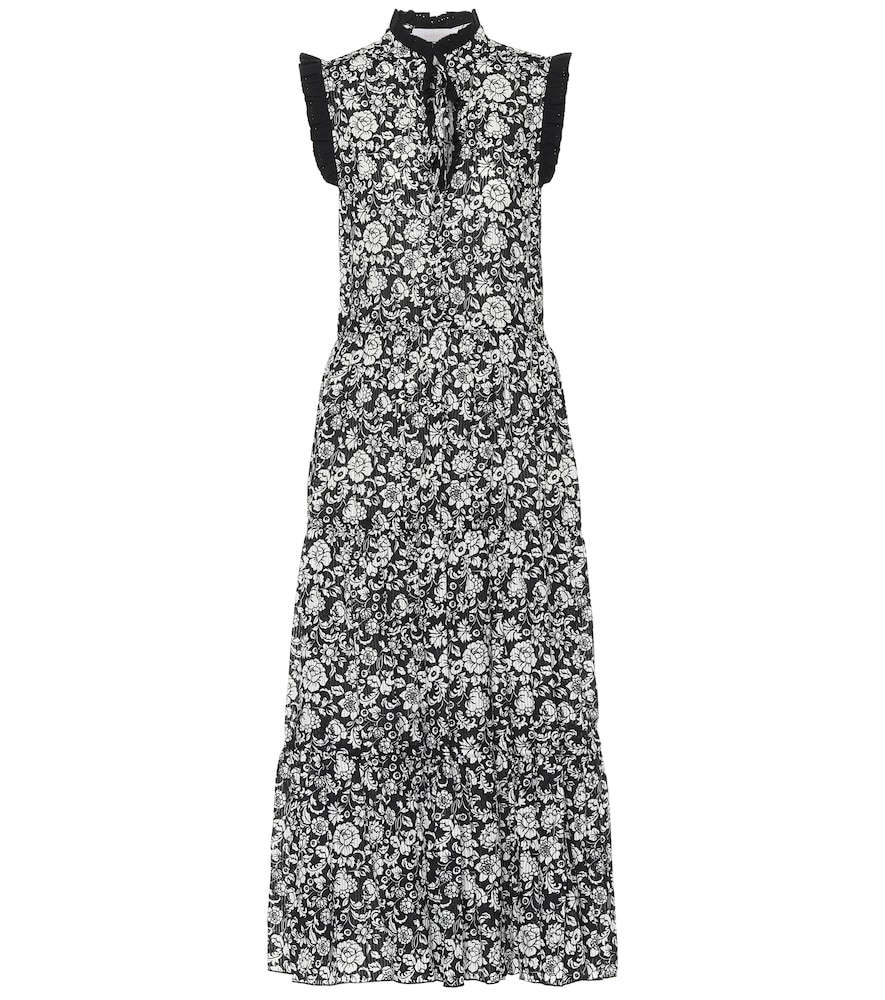 SEE BY CHLOÉ FLORAL COTTON-VOILE MIDI DRESS