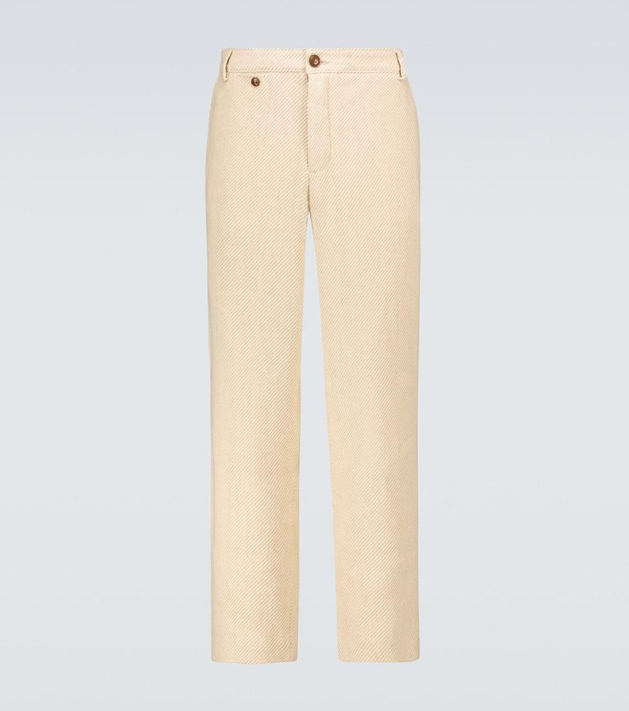 Linen and cotton chino pants