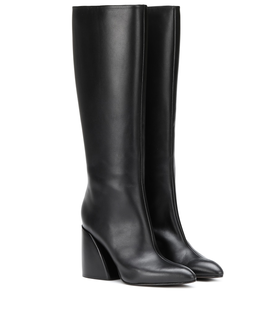 CHLOÉ | Leather Knee-High Boots | Goxip