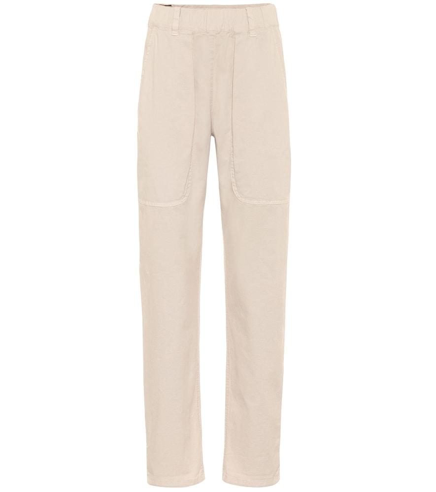 Pantalon skinny à taille haute en coton mélangé - Brunello Cucinelli - Modalova