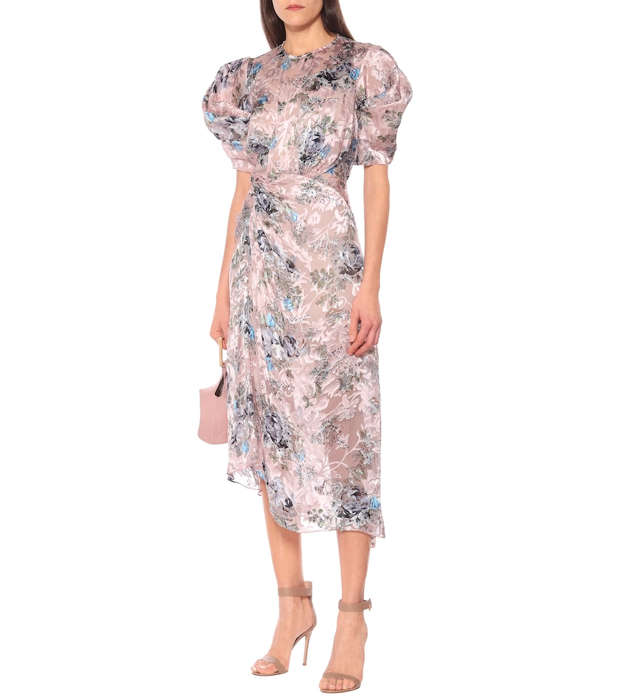 Pippa floral silk-blend midi dress by Preen by Thornton Bregazzi