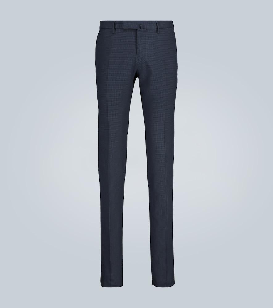 Pantalon casual à carreaux
