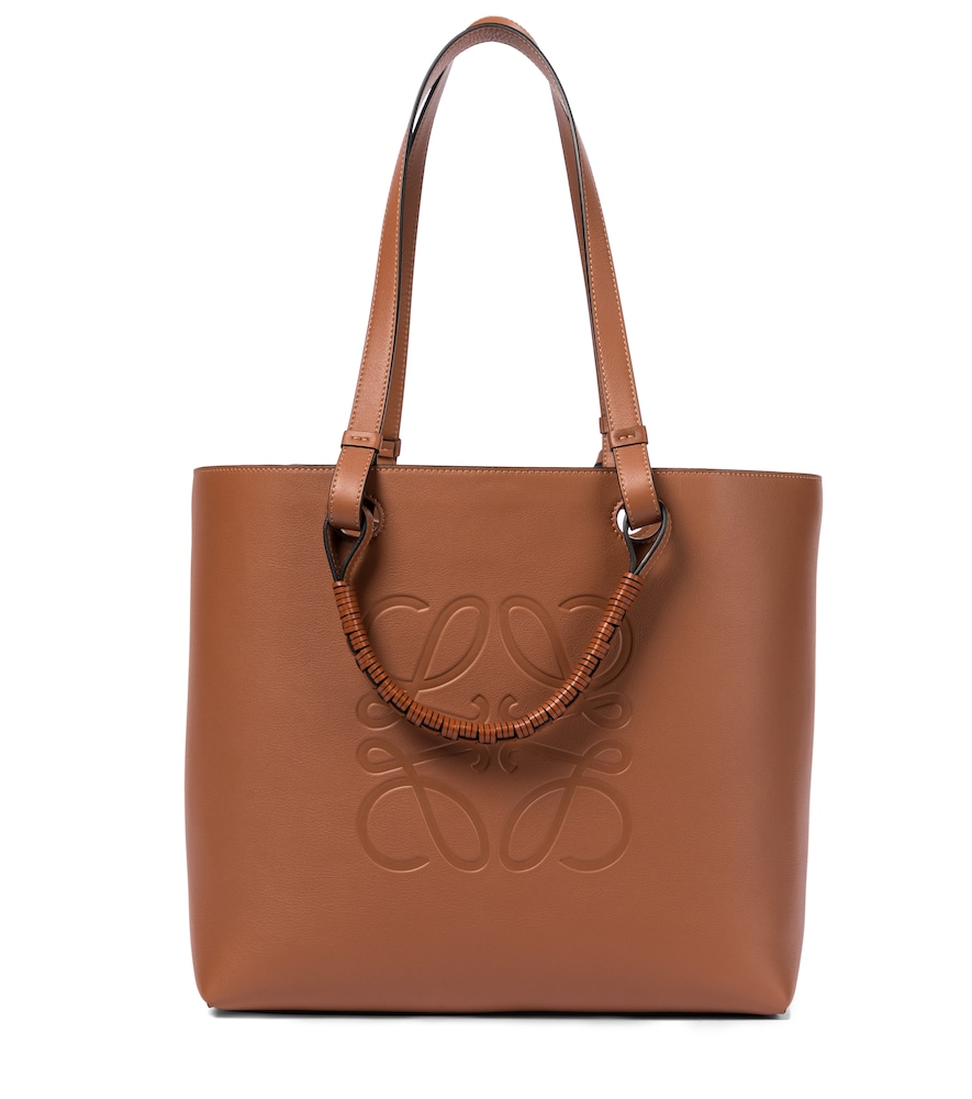 Anagram leather tote