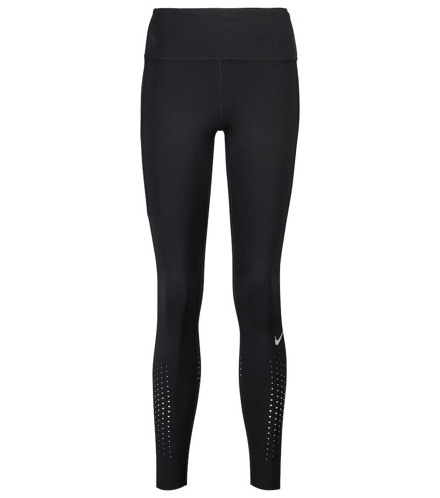 Nike Epic Luxe Women's Mid-rise Pocket Running Leggings In Black