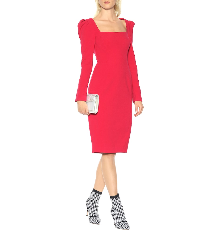 Briar crêpe cutout dress by Rebecca Vallance