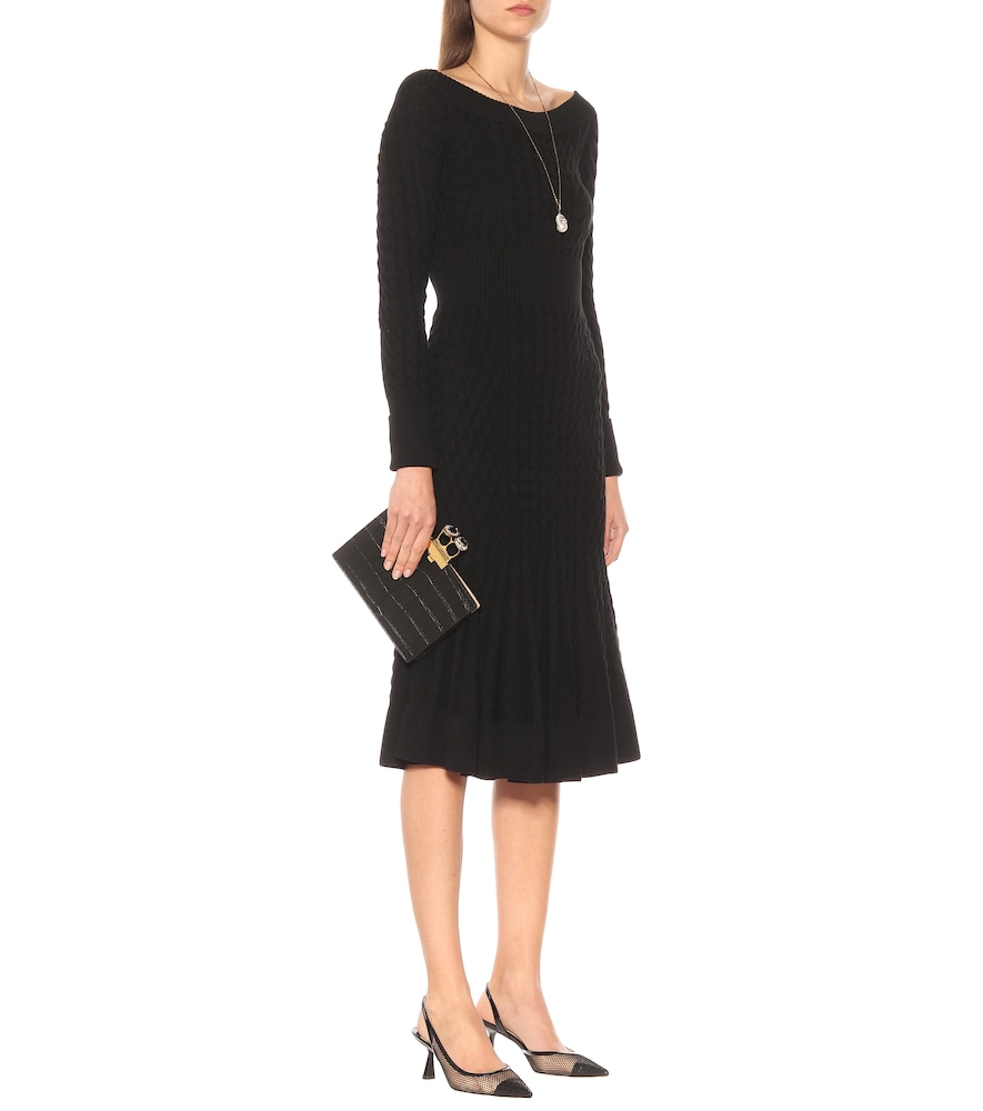 Cable-knit wool-blend dress by Alexander McQueen