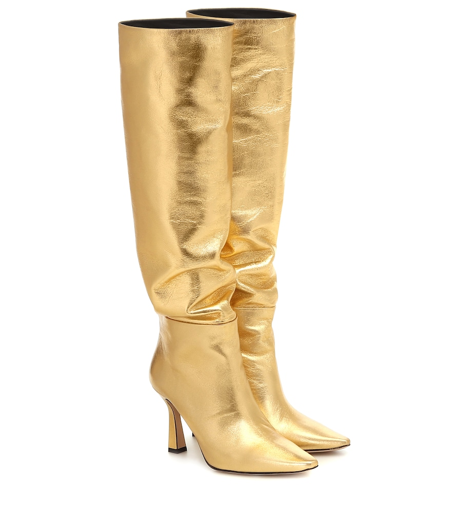 Wandler Boots LINA METALLIC LEATHER BOOTS