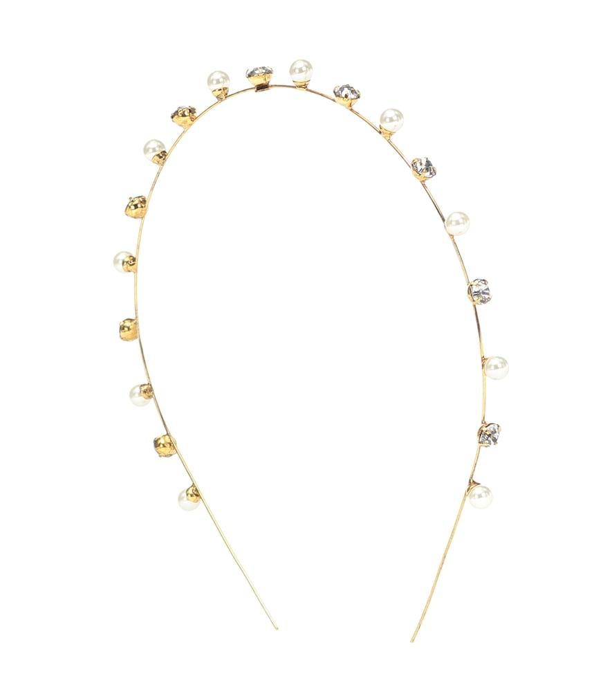 Serre-tête Ines à cristaux Swarovski et perles fantaisie