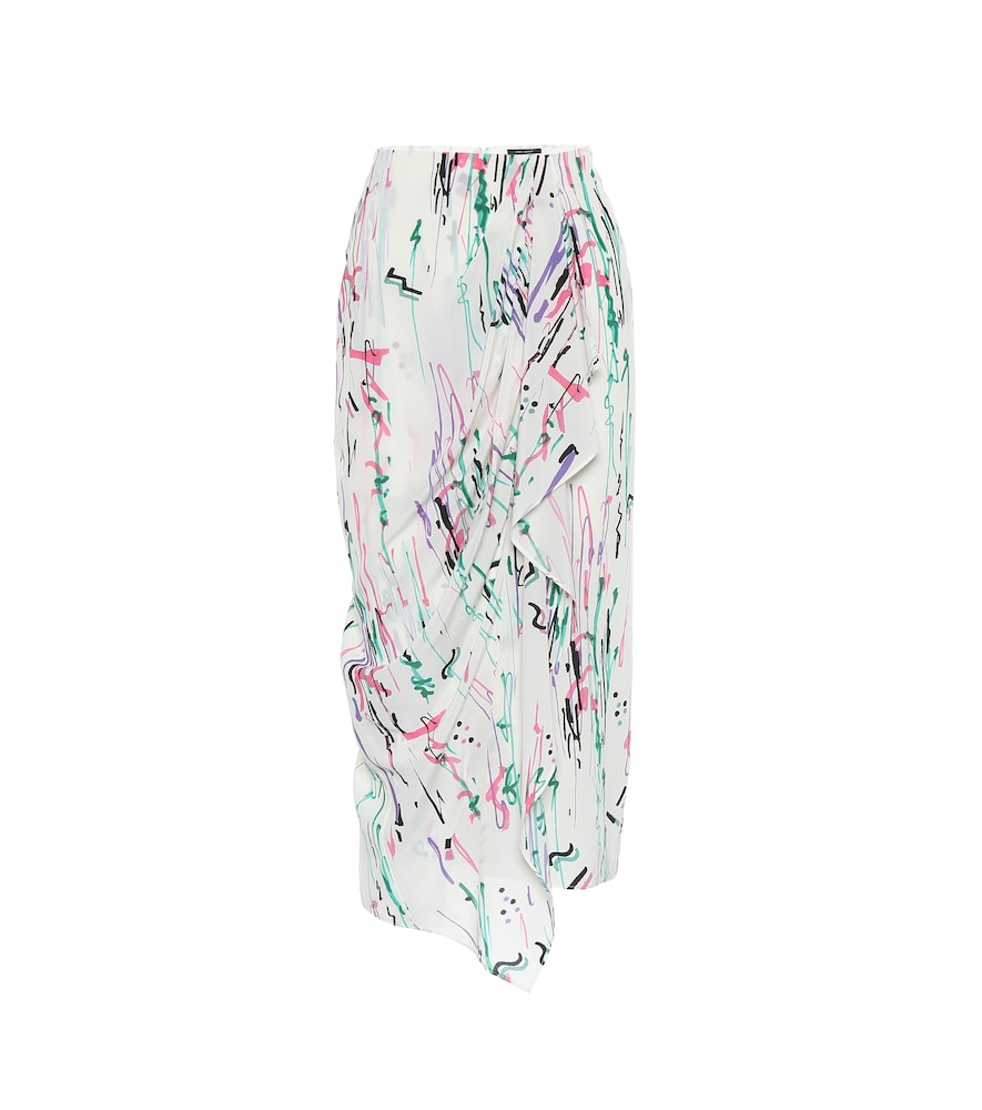Fabiana stretch-silk midi skirt