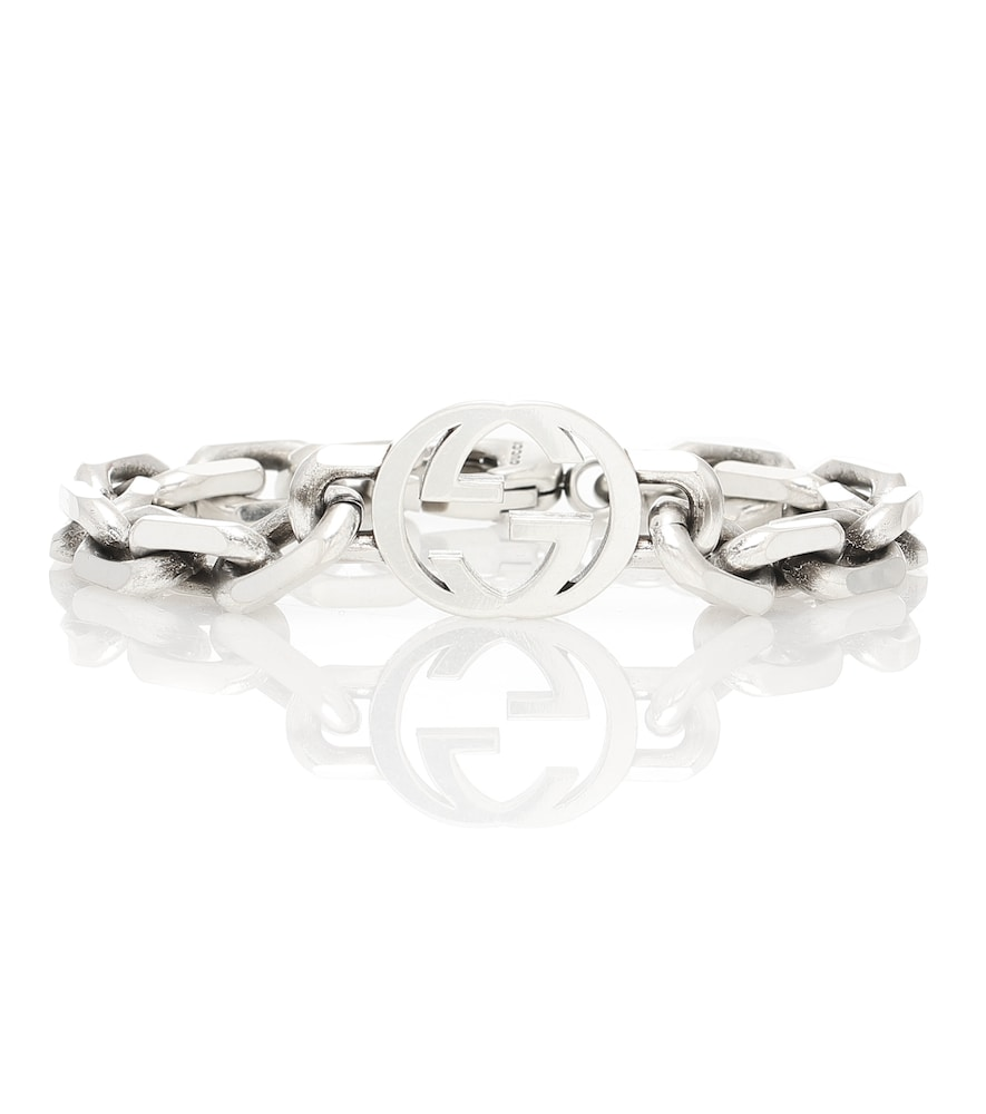 Bracelet Interlocking G en argent sterling - Gucci - Modalova