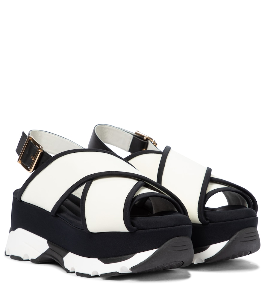 Marni Leathers LEATHER PLATFORM SANDALS