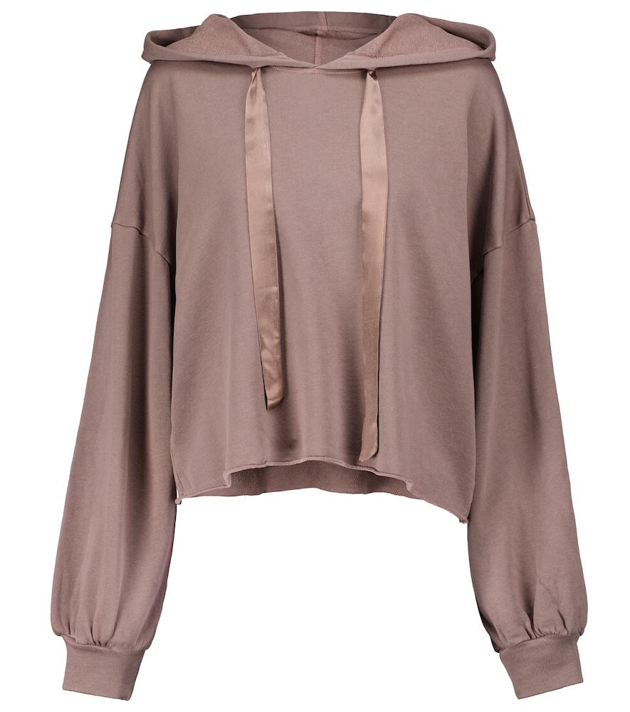 Cotton-blend hoodie
