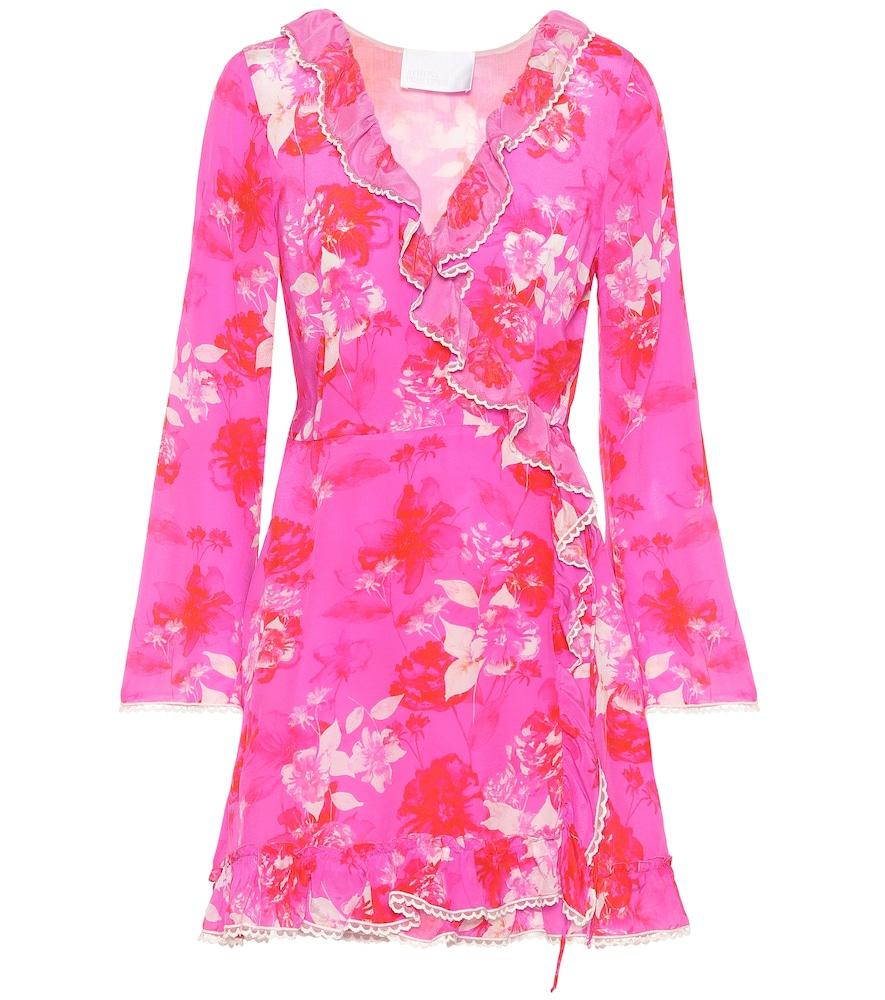 ATHENA PROCOPIOU Melrose Sunset Silk Wrap Dress in Pink